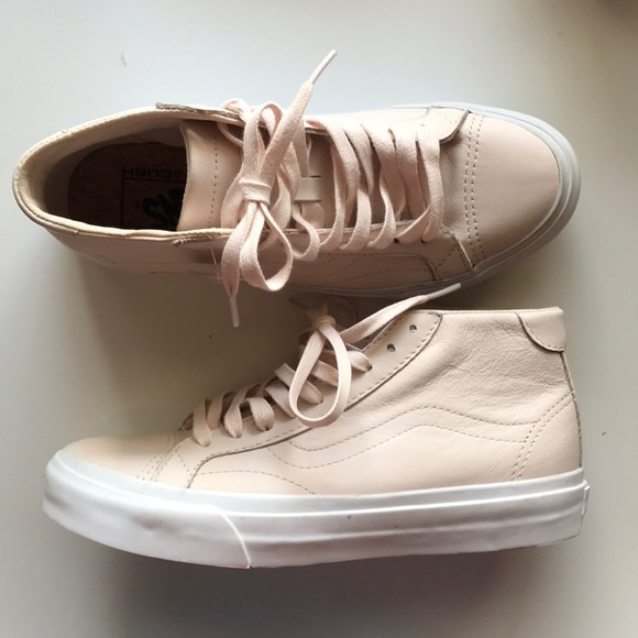 d637c6d4c64ecf VANS- Blush Pink leather mid tops